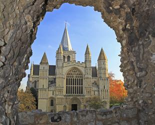 View of Rochester Cathedral from the castle gardens